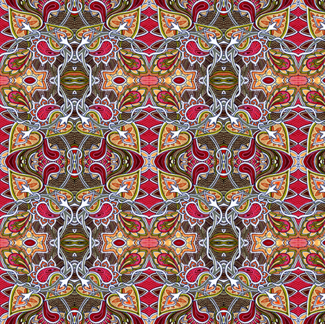 Hearts on Fire fabric by edsel2084 on Spoonflower - custom fabric
