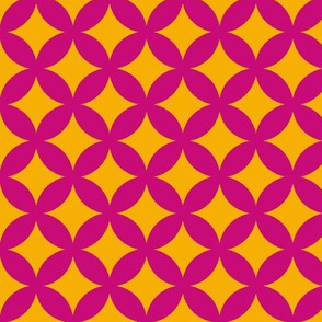 tessellate in mauve and gold