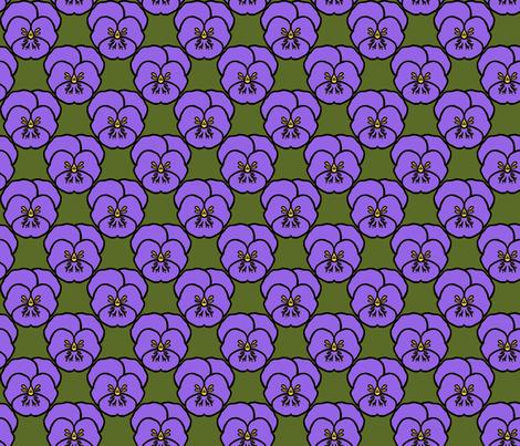 Pansy_purple fabric by adranre on Spoonflower - custom fabric