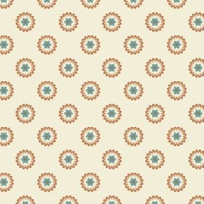 Clay Flowers on Cream