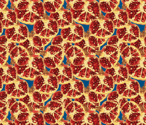 pomegranate 1 fabric by kociara on Spoonflower - custom fabric