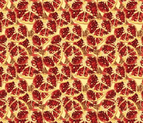 pomegranate 2 fabric by kociara on Spoonflower - custom fabric