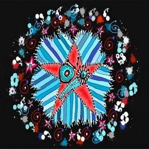 stars and stripes ~ a strange little patchwork