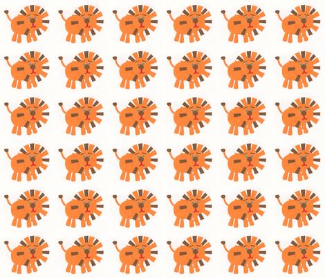 Retro Lions fabric by weebeastiecreations on Spoonflower - custom fabric