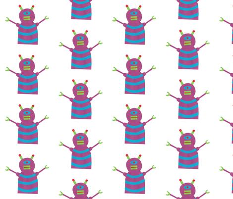 robots beep beep fabric by weebeastiecreations on Spoonflower - custom fabric