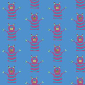robots beep beep blue