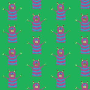 robots beep beep green