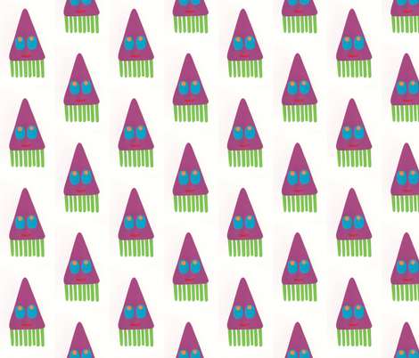 Tum tee tum squid fabric by weebeastiecreations on Spoonflower - custom fabric