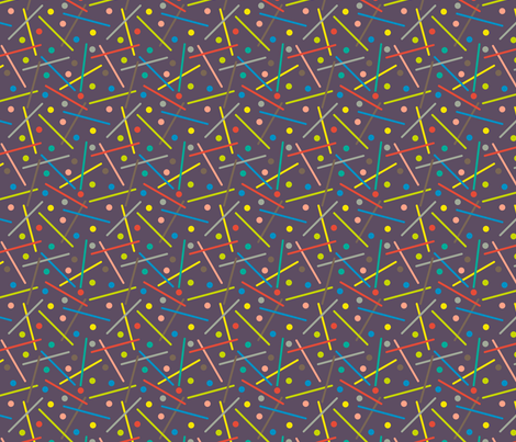 Click Clang Crash! Purple fabric by modgeek on Spoonflower - custom fabric
