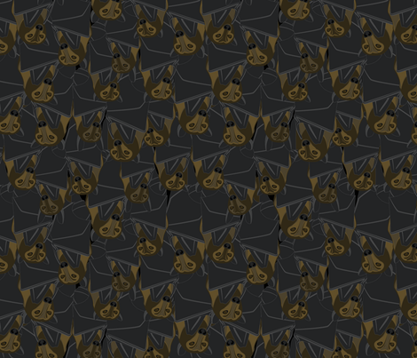 Cave Full of Bats fabric by wildnotions on Spoonflower - custom fabric