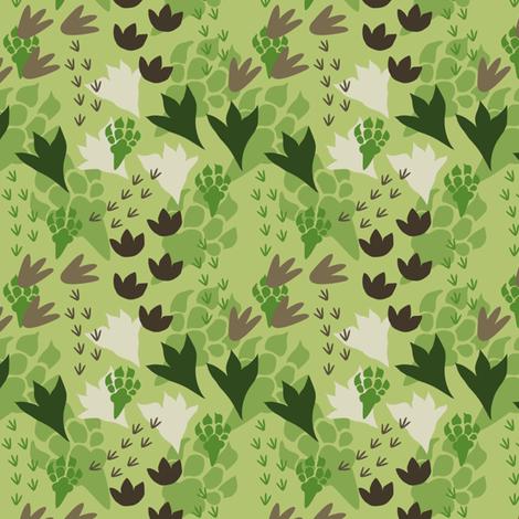 Dinosaur Tracks fabric by bojudesigns on Spoonflower - custom fabric