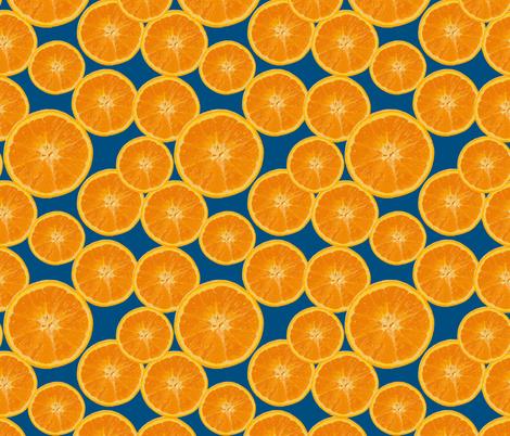 orange navy fabric by kociara on Spoonflower - custom fabric