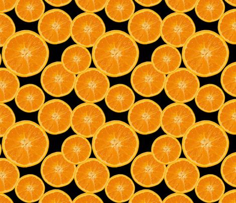 orange on black fabric by kociara on Spoonflower - custom fabric