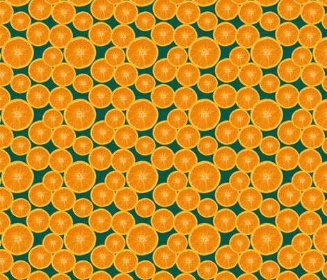 orange green fabric by kociara on Spoonflower - custom fabric
