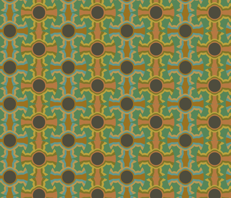Albuquerque Cross (Greens) fabric by david_kent_collections on Spoonflower - custom fabric