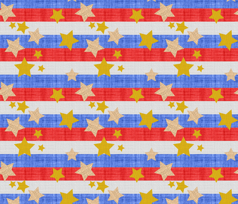stars_and_stripes_on_linen_6_inch-01 fabric by vo_aka_virginiao on Spoonflower - custom fabric