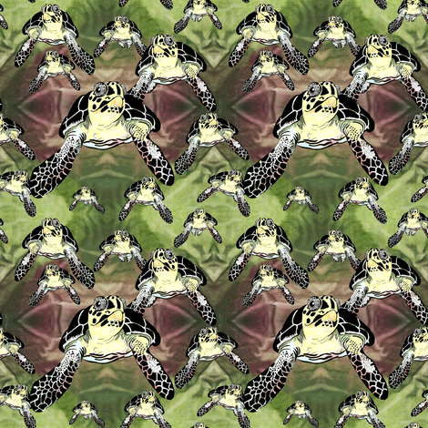 Big turtles and Baby Turtles fabric by house_of_heasman on Spoonflower - custom fabric