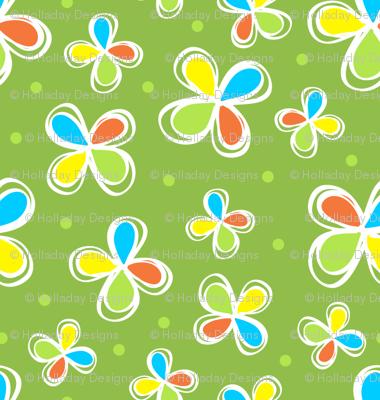 Dodo Bird Green Floral