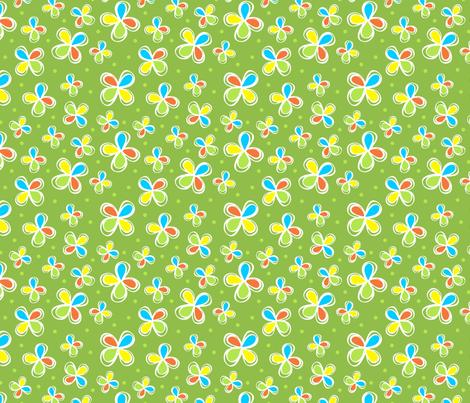 Dodo Bird Green Floral fabric by holladaydesigns on Spoonflower - custom fabric
