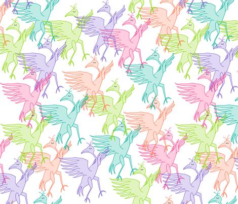 dancing dodos fabric by maggiedee on Spoonflower - custom fabric