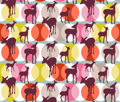 oh_deer_original_grape fabric by lauradejong on Spoonflower - custom fabric