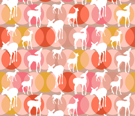oh_deer_rosey fabric by lauradejong on Spoonflower - custom fabric