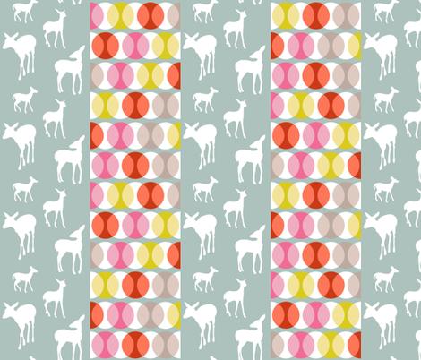 oh_deer_stripe_contrast fabric by lauradejong on Spoonflower - custom fabric