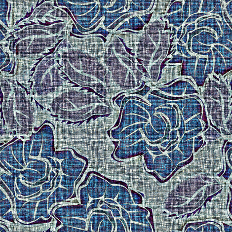 50s_Floral Madison Maidens fabric by glimmericks on Spoonflower - custom fabric