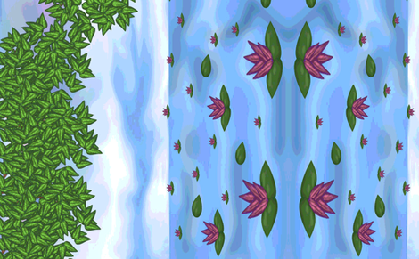 scenery  - hydrology fabric by anino on Spoonflower - custom fabric
