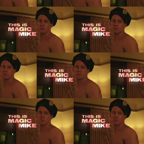 this is magic mike fabric by geekinspirations on Spoonflower - custom fabric