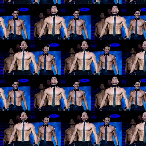 magic mike all together now fabric by geekinspirations on Spoonflower - custom fabric