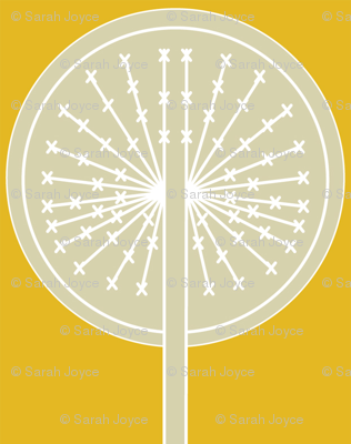 Dandelion on yellow B