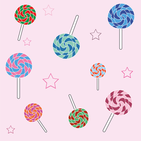 Lollipops fabric by icypop on Spoonflower - custom fabric