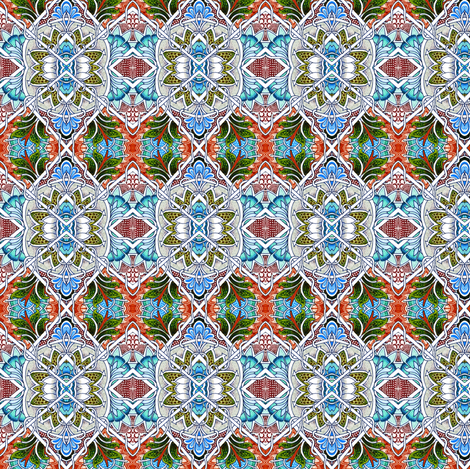 Just Drink Your Rococo While It's Still Warm fabric by edsel2084 on Spoonflower - custom fabric