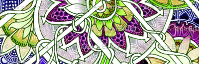 Let Us Lotus (water lily vertical stripe)