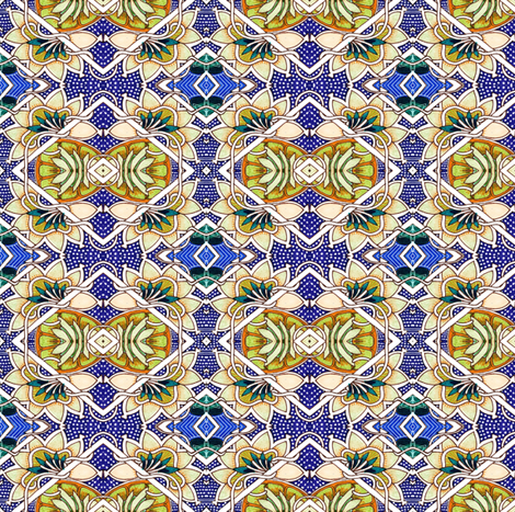Mmmm Magnolias fabric by edsel2084 on Spoonflower - custom fabric