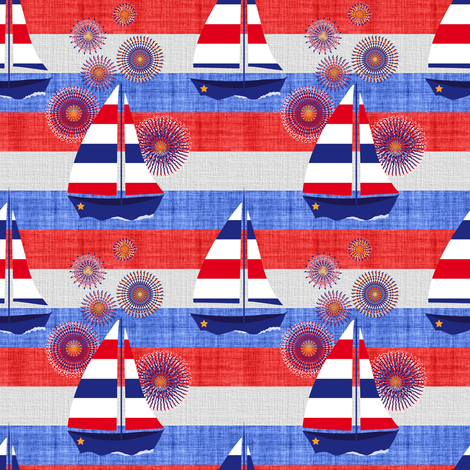 And the Rockets Red Glare fabric by vo_aka_virginiao on Spoonflower - custom fabric
