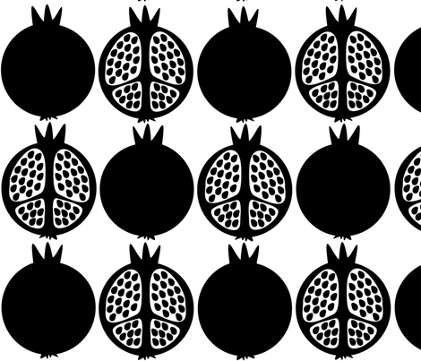 BlackPomegranates fabric by lilope on Spoonflower - custom fabric