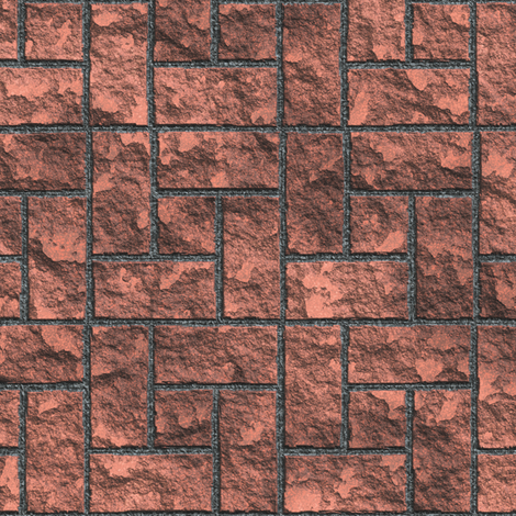Copper Bricks fabric by animotaxis on Spoonflower - custom fabric