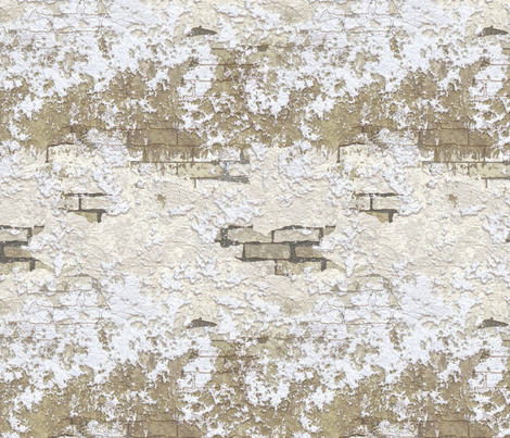 Grunge Plaster Brick Wall fabric by animotaxis on Spoonflower - custom fabric