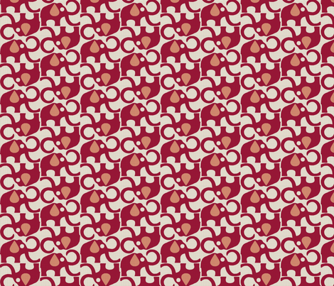 MAMMOTH_BERRY_SALMON fabric by glorydaze on Spoonflower - custom fabric