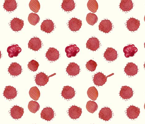 cestlaviv_raspberry clafoutis fabric by cest_la_viv on Spoonflower - custom fabric