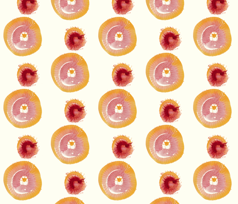 cestlaviv_apricot clafoutis fabric by cest_la_viv on Spoonflower - custom fabric