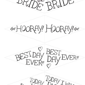 DIY Wedding Bunting and Flags