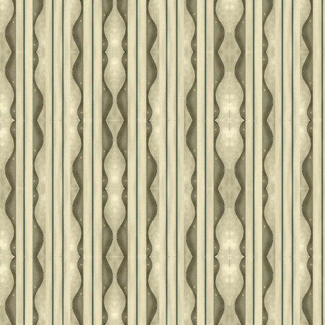 Folk Art Floral Brown Scallop fabric by robin006 on Spoonflower - custom fabric