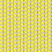 Clotheshanger Chevron - lemon