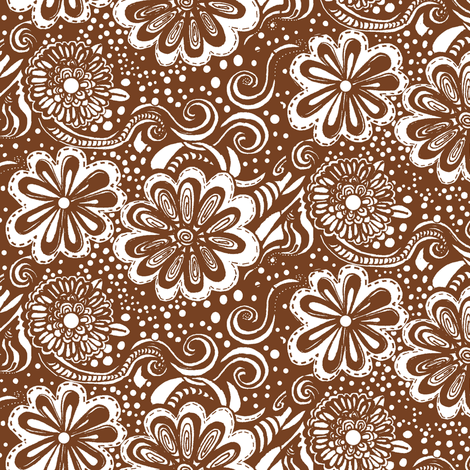 Sunday Sermon/Brown fabric by thats_artrageous on Spoonflower - custom fabric