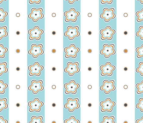 daisy_ripple_stripe fabric by christiem on Spoonflower - custom fabric