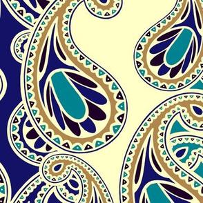 Bluegold Paisley