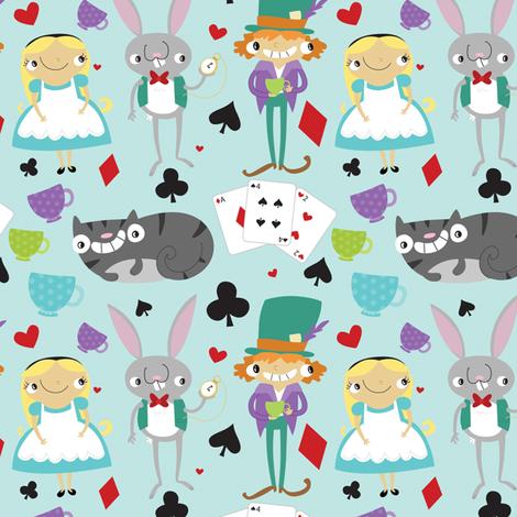 Alice & Friends fabric by pigandpumpkin on Spoonflower - custom fabric
